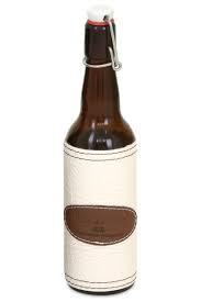 Бутылка МАГАРЫЧ 0,5л, коричн. чехол белый кожа/экокожа, арт.: в00123
