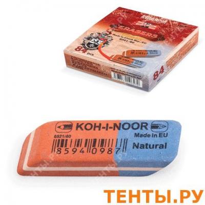 Ластик KOH-I-NOOR, 42х14х8 мм, красно-синий, прямоугольный, скошенные края, натуральный каучук, 6521, арт.: 224329