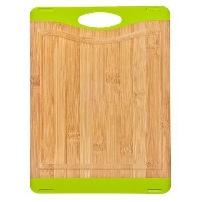 Доска разделочная бамбук, 27x20x1,6см, противоскользящая, зеленая FY00003-P SATOSHI Bamboo, арт.: 851096